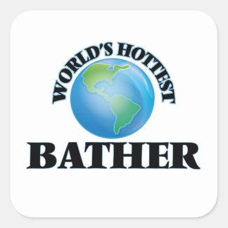 World's Hottest Bather Square Sticker