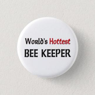 Worlds Hottest Bee Keeper Pinback Button