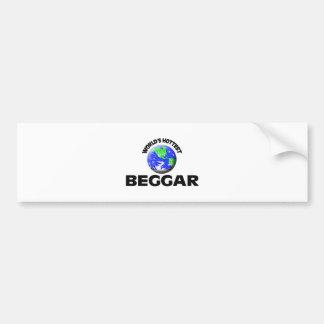World's Hottest Beggar Car Bumper Sticker