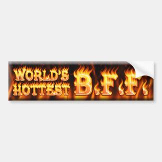 worlds hottest bff bumper sticker