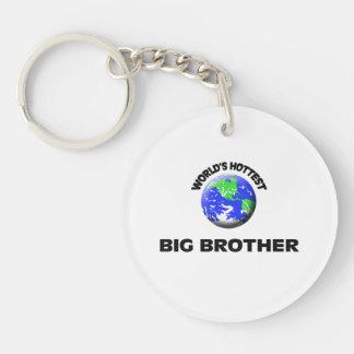 World's Hottest Big Brother Single-Sided Round Acrylic Keychain