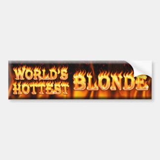 world's hottest blonde bumper sticker