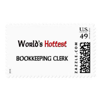 Worlds Hottest Bookkeeping Clerk Postage Stamps