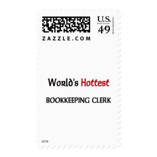Worlds Hottest Bookkeeping Clerk Stamps