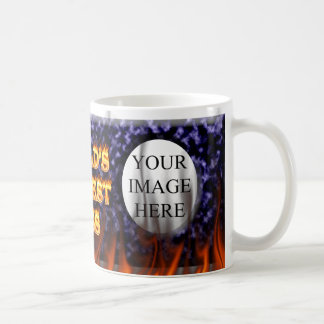 World's hottest Boss fire and flames blue marble Coffee Mug