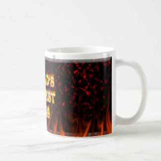 World's hottest Boss fire and flames red marble Classic White Coffee Mug