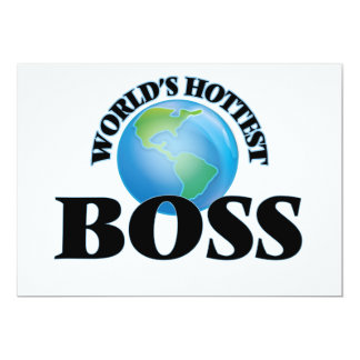 "World's Hottest Boss 5"" X 7"" Invitation Card"