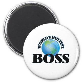 World's Hottest Boss Refrigerator Magnets