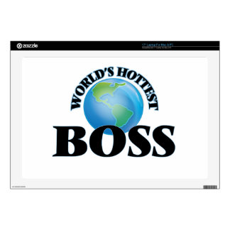 "World's Hottest Boss 17"" Laptop Skin"