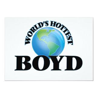 "World's Hottest Boyd 5"" X 7"" Invitation Card"
