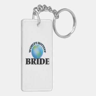 World's Hottest Bride Rectangular Acrylic Key Chains