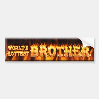 worlds hottest brother bumper sticker