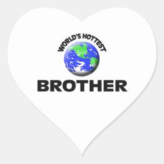 World's Hottest Brother Heart Sticker