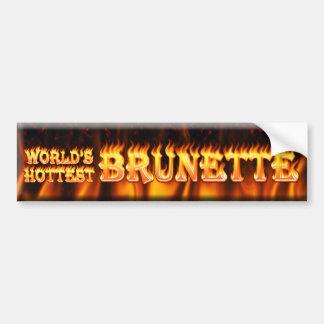 worlds hottest brunette bumper sticker