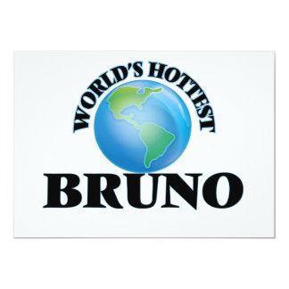 World's Hottest Bruno 5x7 Paper Invitation Card