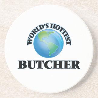 World's Hottest Butcher Drink Coaster