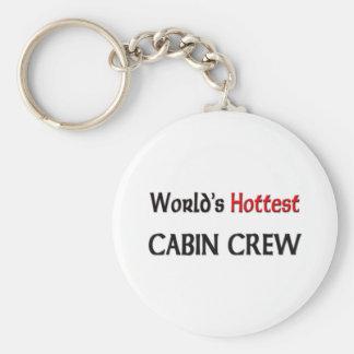 Worlds Hottest Cabin Crew Basic Round Button Keychain
