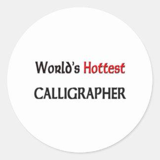 Worlds Hottest Calligrapher Sticker