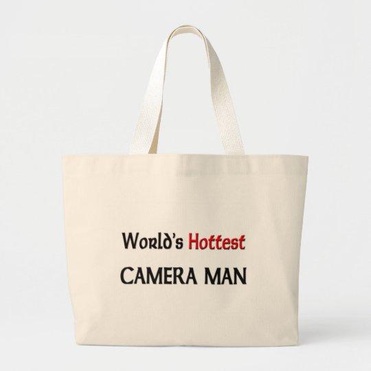 Worlds Hottest Camera Man Large Tote Bag