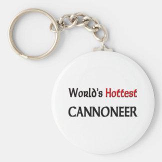 Worlds Hottest Cannoneer Keychain