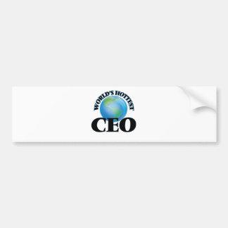 World's Hottest Ceo Bumper Stickers