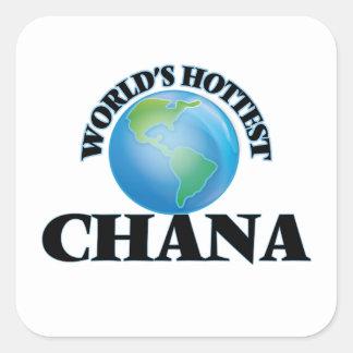 World's Hottest Chana Square Sticker