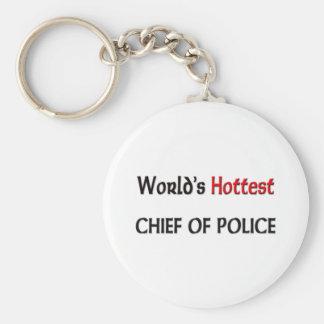 Worlds Hottest Chief Of Police Basic Round Button Keychain