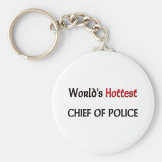 Worlds Hottest Chief Of Police Keychain