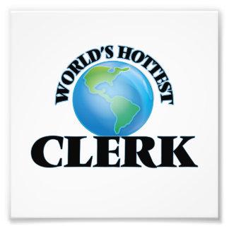 World's Hottest Clerk Photo Print