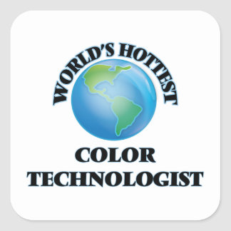 World's Hottest Color Technologist Square Stickers
