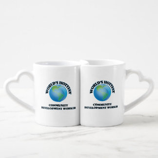 World's Hottest Community Development Worker Couples' Coffee Mug Set