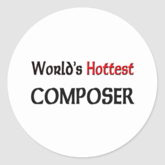 Worlds Hottest Composer Stickers
