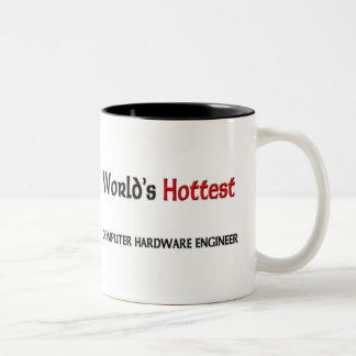 Worlds Hottest Computer Hardware Engineer Two-Tone Coffee Mug