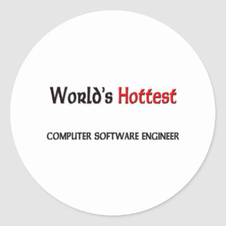 Worlds Hottest Computer Software Engineer Classic Round Sticker