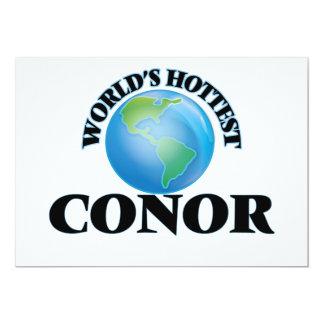 """World's Hottest Conor 5"""" X 7"""" Invitation Card"""