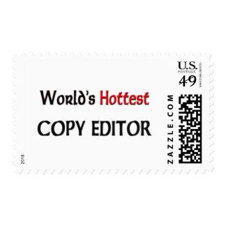 Worlds Hottest Copy Editor Postage Stamp