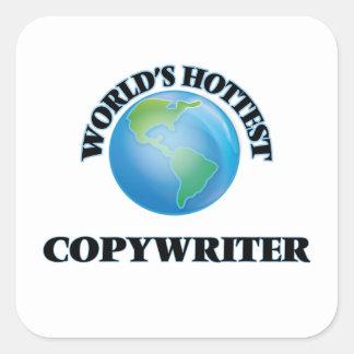 World's Hottest Copywriter Sticker