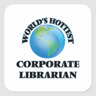 World's Hottest Corporate Librarian Stickers