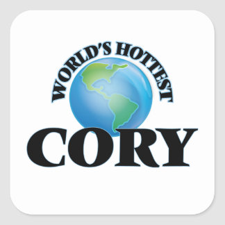 World's Hottest Cory Square Stickers