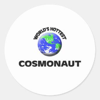 World's Hottest Cosmonaut Round Stickers