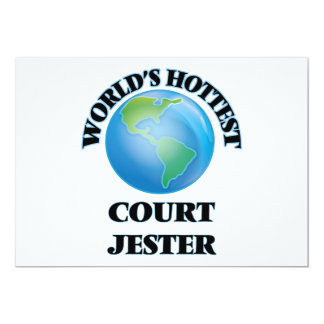 World's Hottest Court Jester 5x7 Paper Invitation Card