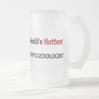 Worlds Hottest Cryptozoologist Frosted Glass Beer Mug