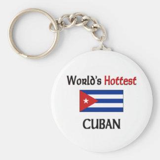 World's Hottest Cuban Basic Round Button Keychain