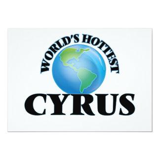 World's Hottest Cyrus 5x7 Paper Invitation Card