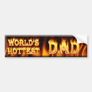 worlds hottest dad bumper sticker