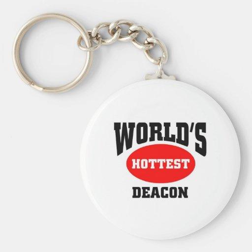 World's Hottest Deacon Basic Round Button Keychain