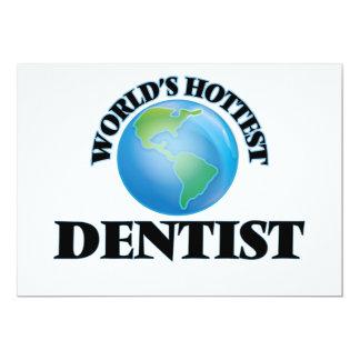 "World's Hottest Dentist 5"" X 7"" Invitation Card"