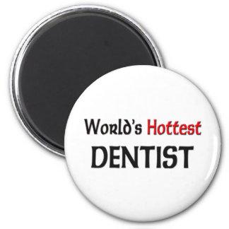 Worlds Hottest Dentist 2 Inch Round Magnet