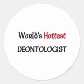 Worlds Hottest Deontologist Stickers