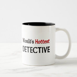 Worlds Hottest Detective Two-Tone Coffee Mug